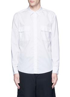 SulvamFlap pocket cotton shirt