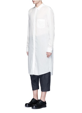 Front View - Click To Enlarge - Sulvam - Back slit long tencel shirt