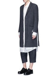 SulvamBack slit long tencel shirt
