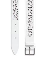 'Mini Maguerite' floral lasercut leather belt