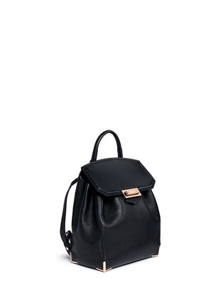 Front View - Click To Enlarge - Alexander Wang  - 'Prisma' skeletal hardware constrast leather backpack