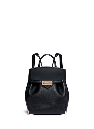 Main View - Click To Enlarge - Alexander Wang  - 'Prisma' skeletal hardware constrast leather backpack