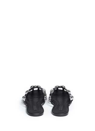 Back View - Click To Enlarge - Alexander Wang  - 'Amelia' dome stud caged leather slide flats