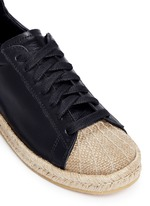 'Rian' leather espadrille sneakers