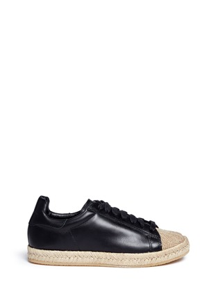 Main View - Click To Enlarge - Alexander Wang  - 'Rian' leather espadrille sneakers