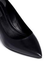 'Simona' cutout heel leather pumps