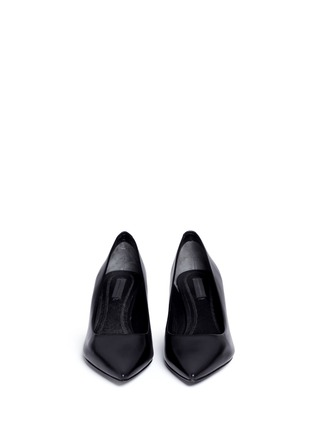 Front View - Click To Enlarge - Alexander Wang  - 'Simona' cutout heel leather pumps