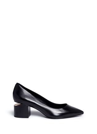 Main View - Click To Enlarge - Alexander Wang  - 'Simona' cutout heel leather pumps