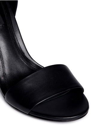 Detail View - Click To Enlarge - Alexander Wang  - 'Abby' cutout heel ankle strap leather sandals
