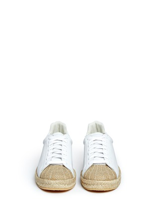 Front View - Click To Enlarge - Alexander Wang  - 'Rian' leather espadrille sneakers