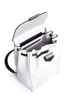 'Prisma' contrast effect leather backpack