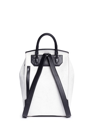 Back View - Click To Enlarge - Alexander Wang  - 'Prisma' contrast effect leather backpack