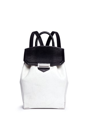 Main View - Click To Enlarge - Alexander Wang  - 'Prisma' contrast effect leather backpack