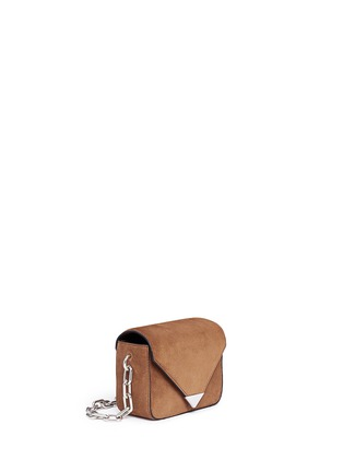 Front View - Click To Enlarge - Alexander Wang  - 'Prisma' mini suede envelope sling bag