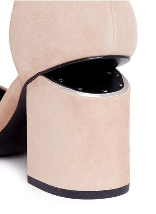 Detail View - Click To Enlarge - Alexander Wang  - 'Abby' cutout heel ankle strap suede sandals