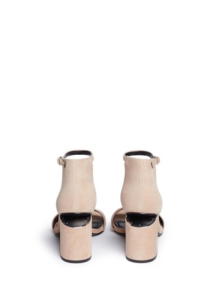 Back View - Click To Enlarge - Alexander Wang  - 'Abby' cutout heel ankle strap suede sandals