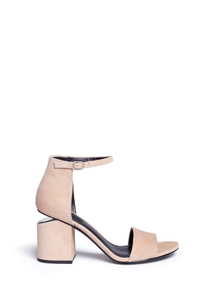 Main View - Click To Enlarge - Alexander Wang  - 'Abby' cutout heel ankle strap suede sandals