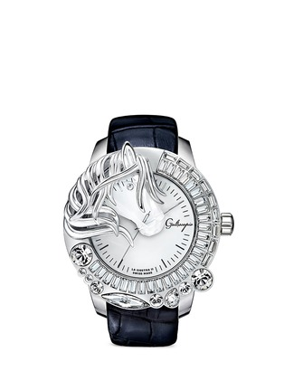 Main View - Click To Enlarge - Galtiscopio - 'La Giostra II' crystal horse watch