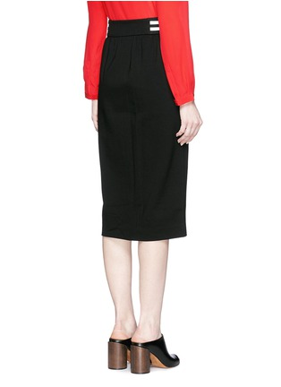 Back View - Click To Enlarge - Mo&Co. - Stripe waist jersey pencil skirt