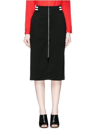 Main View - Click To Enlarge - Mo&Co. - Stripe waist jersey pencil skirt