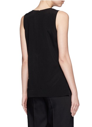 Back View - Click To Enlarge - Mo&Co. - Asymmetric hem crepe sleeveless top