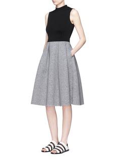 MO&Co.Bell bottom sleeveless dress