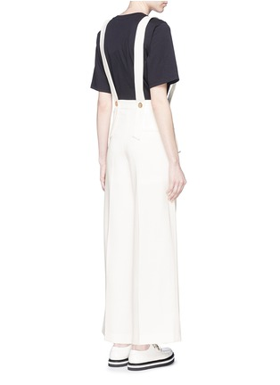 Back View - Click To Enlarge - Mo&Co. - Wide leg overall pants