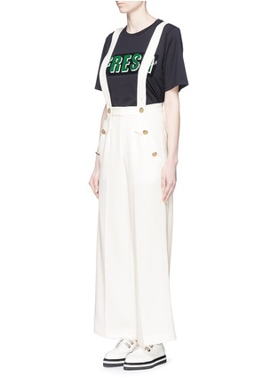 Front View - Click To Enlarge - Mo&Co. - Wide leg overall pants