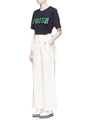 Figure View - Click To Enlarge - Mo&Co. - Wide leg overall pants
