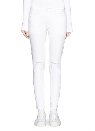 Detail View - Click To Enlarge - Mo&Co. - Ripped knee skinny jeans