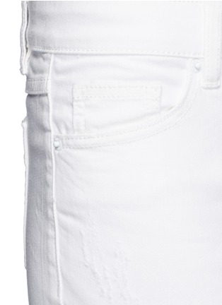 Mo&Co.-Ripped knee skinny jeans