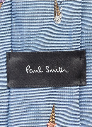 Detail View - Click To Enlarge - Paul Smith - Ice cream cone embroidery silk tie