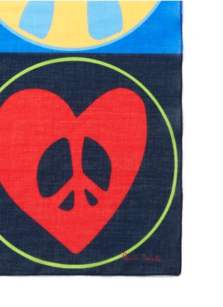 Paul Smith - 'Peace and Love' cotton pocket square