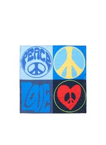 'Peace and Love' cotton pocket square