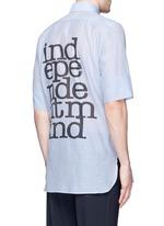 'Independent Mind' print cotton-silk shirt