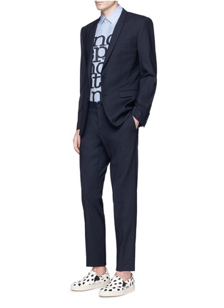 Figure View - Click To Enlarge - Paul Smith - 'Independent Mind' print cotton-silk shirt