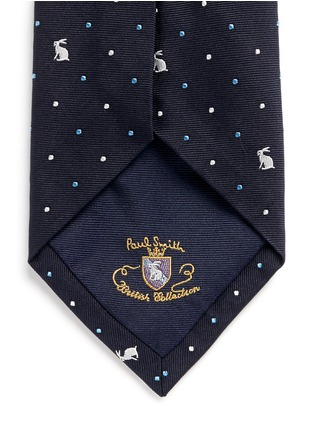 Detail View - Click To Enlarge - Paul Smith - Rabbit polka dot embroidery silk tie