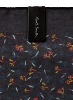 Floral print cotton-silk blend pocket square