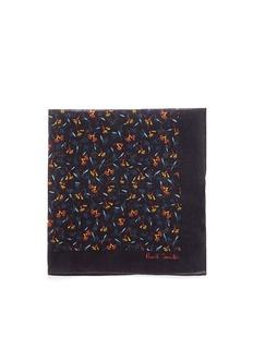 Paul SmithFloral print cotton-silk blend pocket square