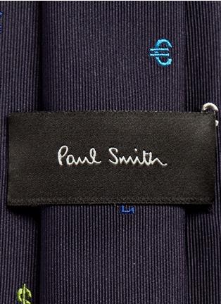 Paul Smith-Dollar sign embroidery silk tie
