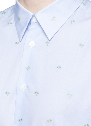 Detail View - Click To Enlarge - PS by Paul Smith - Palm tree jacquard stripe shirt
