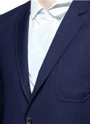Detail View - Click To Enlarge - PS by Paul Smith - Patch pocket crosshatch wool blazer