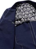 Patch pocket crosshatch wool blazer