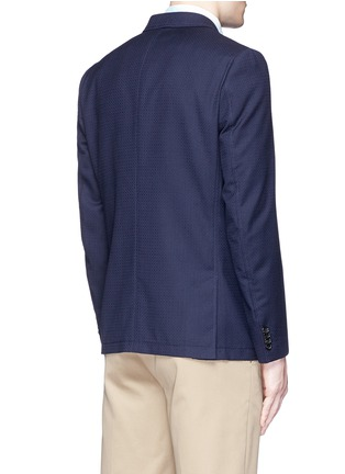 Back View - Click To Enlarge - PS by Paul Smith - Patch pocket crosshatch wool blazer