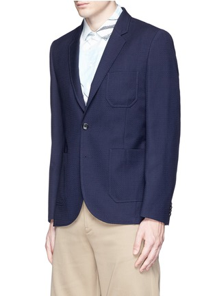 Front View - Click To Enlarge - PS by Paul Smith - Patch pocket crosshatch wool blazer