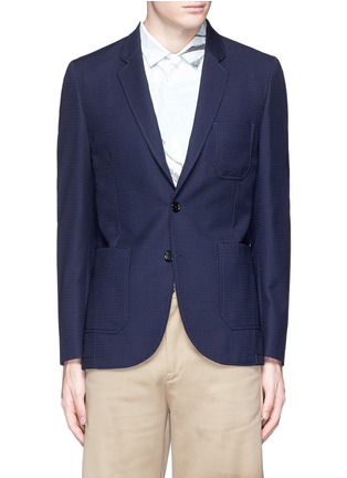Main View - Click To Enlarge - PS by Paul Smith - Patch pocket crosshatch wool blazer