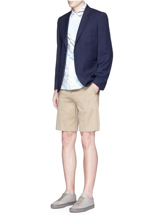 Figure View - Click To Enlarge - PS by Paul Smith - Patch pocket crosshatch wool blazer