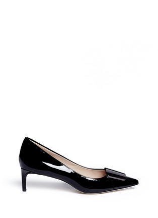 Pedder Red - Riley' metal plaque patent leather pumps