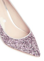 'Jess' coarse glitter pumps