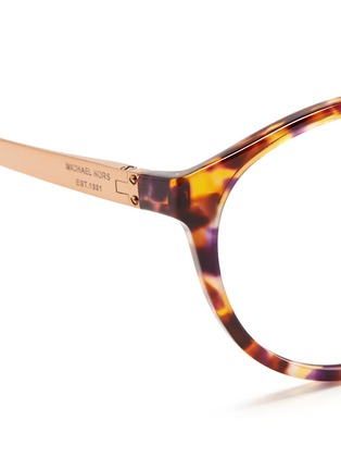 Detail View - Click To Enlarge - Michael Kors - 'Mayfair' metal temple tortoiseshell acetate optical glasses